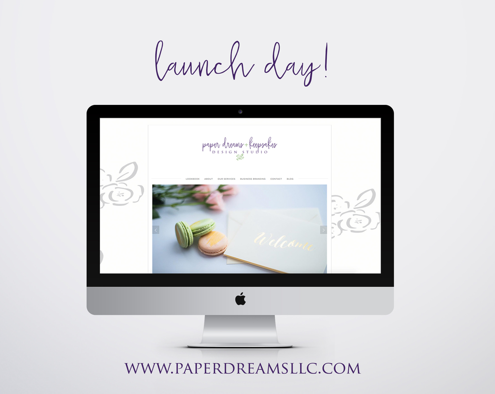 Paper Dreams LLC | Http://www.paperdreamsllc.com | New York Stationery Designer | Launch Day
