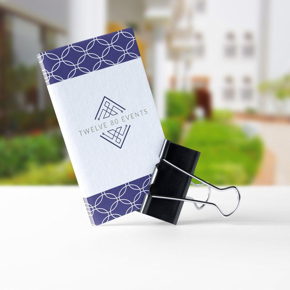 Paper Dreams + Keepsakes | Http://www.paperdreamsllc.com | New York Stationery Designer | Business Card + Brand Pattern Design for Twelve 80 Events