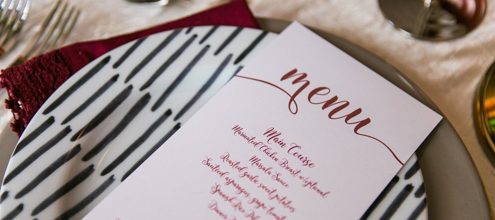 Paper Dreams + Keepsakes | Http://www.paperdreamsllc.com | New York Stationery Designer | Holiday Menu Card