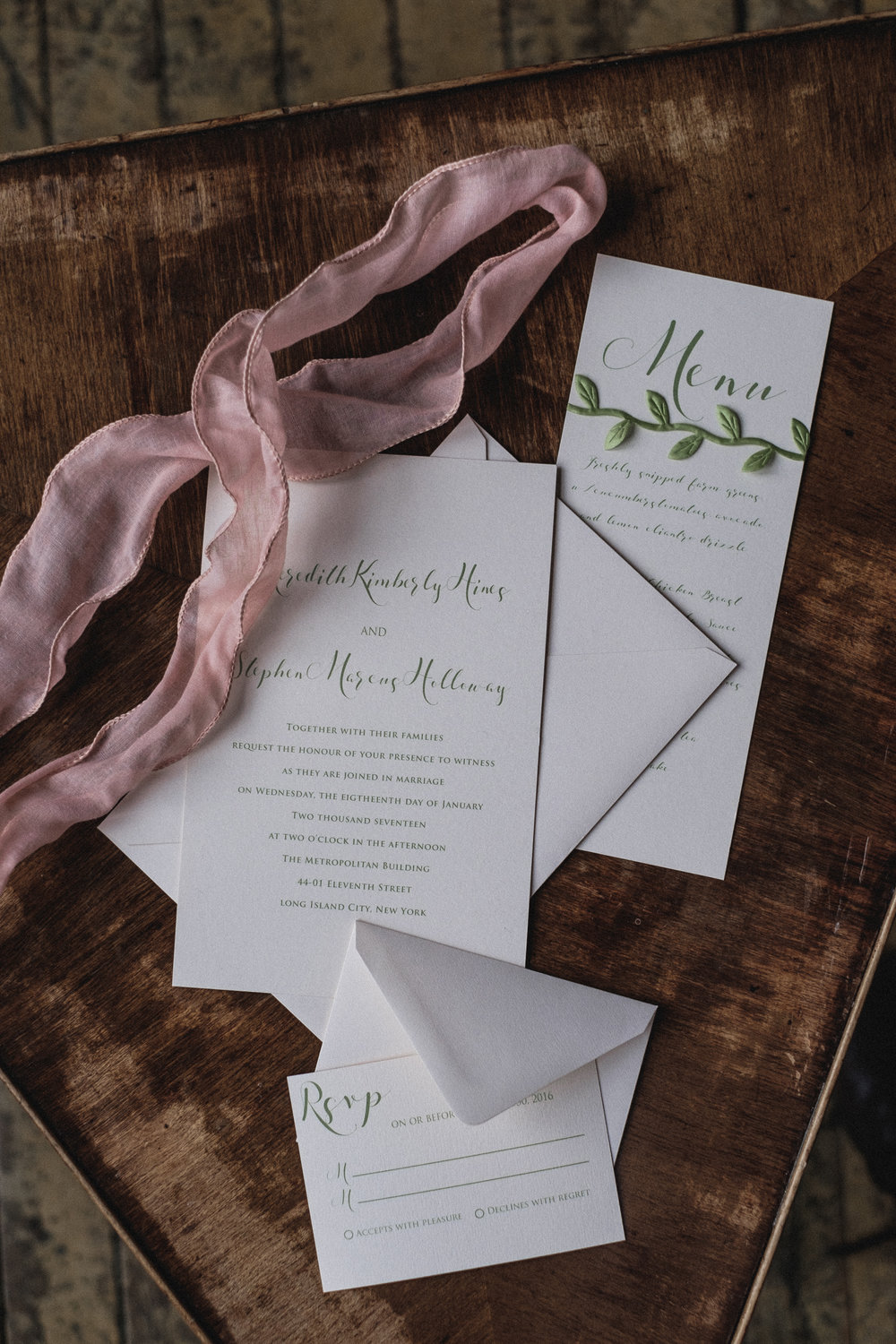 Paper Dreams + Keepsakes | Http://www.paperdreamsllc.com | New York Stationery Designer | Rustic Garden Romance Invitation for Styled Shoot