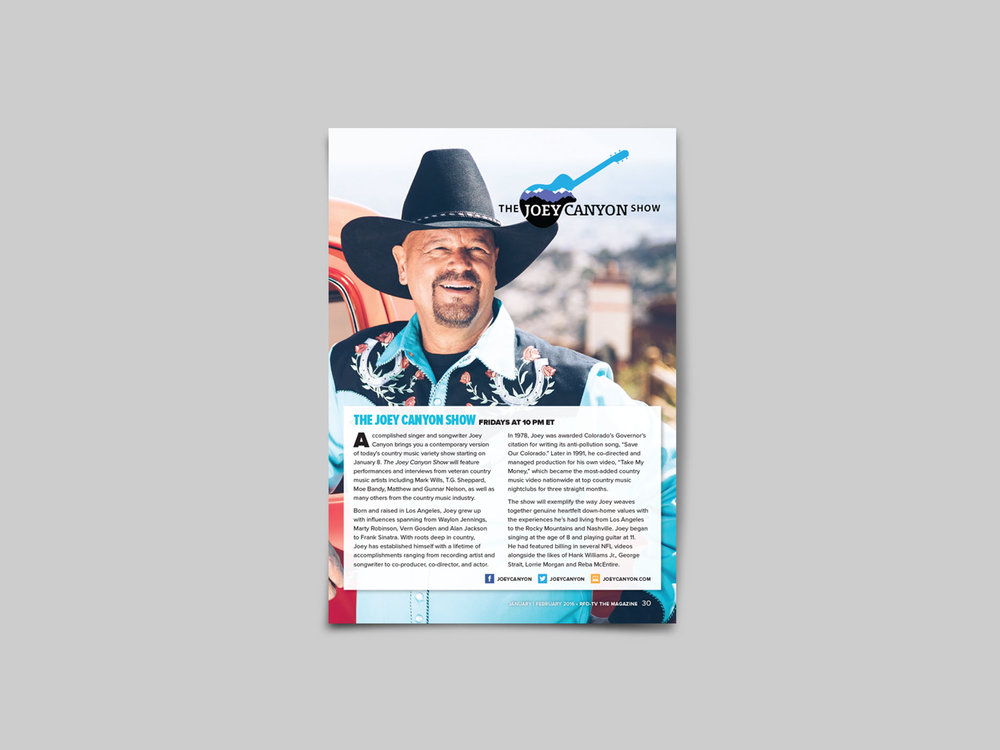 Magazine feature introducing Joey Canyon of The Joey Canyon Show.
