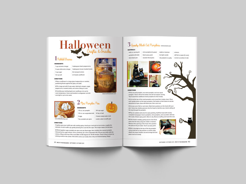 Seasonal spread providing crafty tips and ideas for our readers to enjoy with their family and friends.