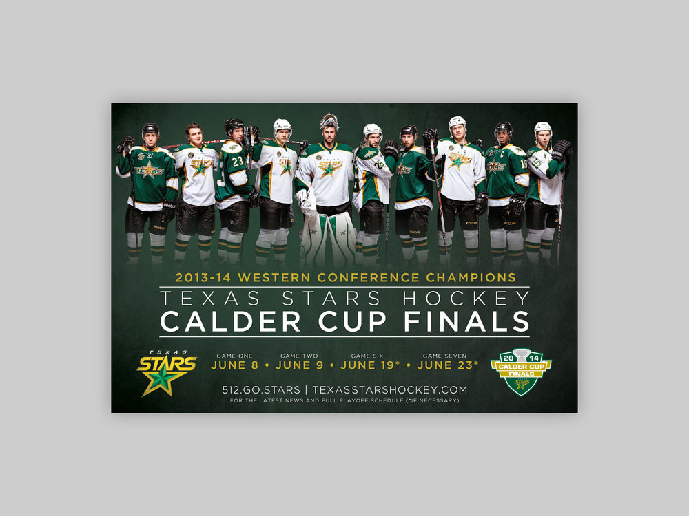 All Over Media poster, distributed to advertise the Calder Cup Finals.