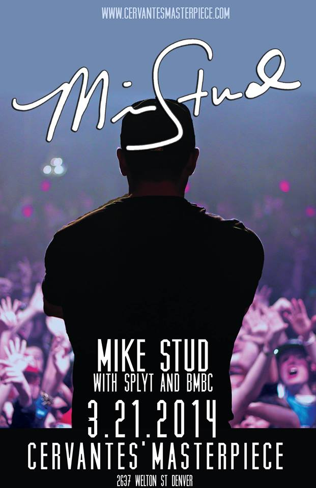 Mike Stud is coming to Colorado for the first time, for sure going to sell out!