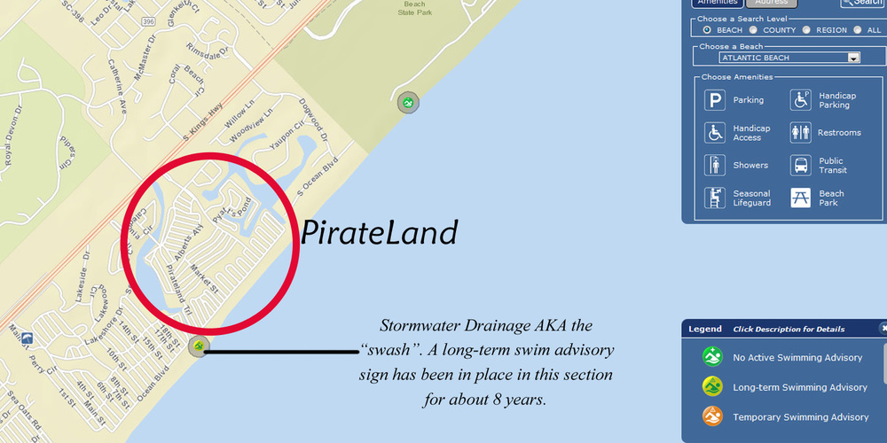 There Is A Swash On The Most Southern End Of Beach In Front PirateLand Bordering Neighboring Campground It Always Advised That Swimmers
