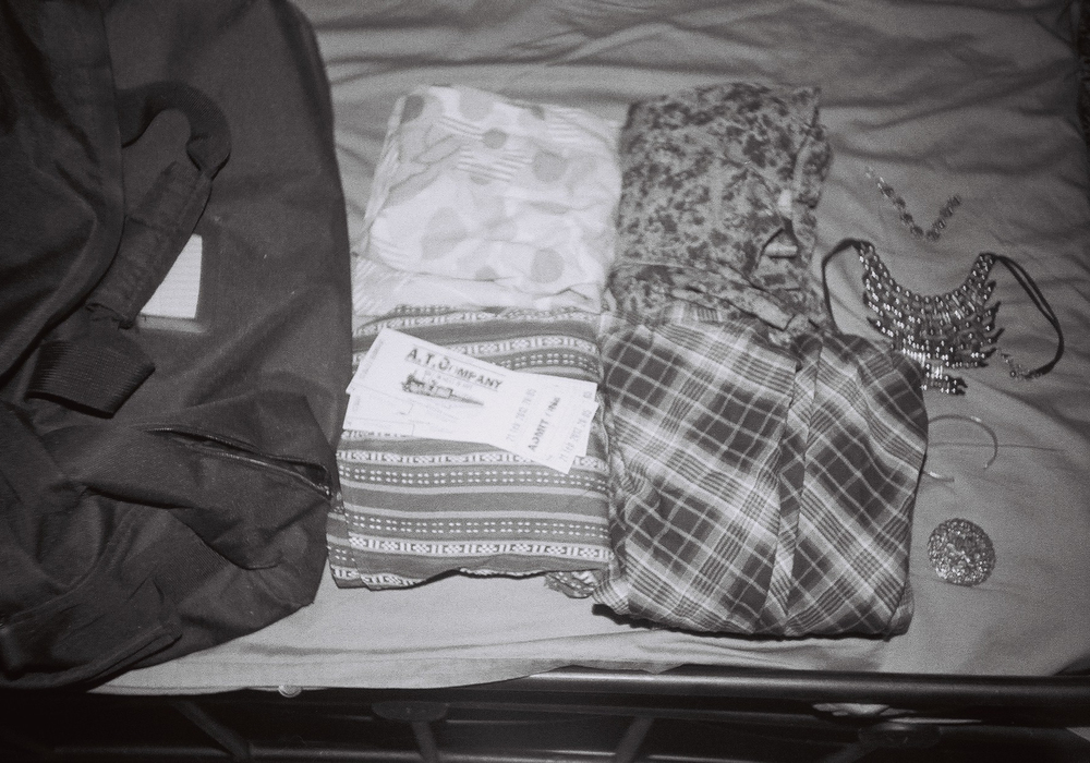 Arranged Clothes & Duffel Bag