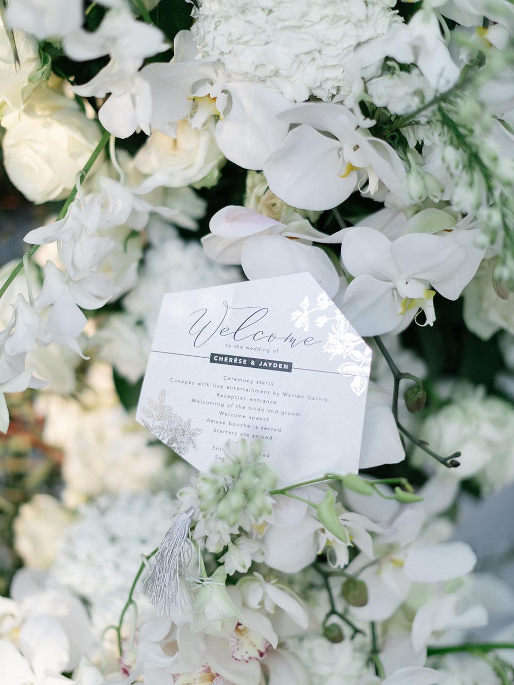 Wedding Welcome | Rensche Mari Photography