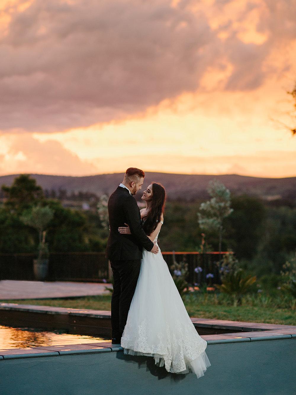 Bride & Groom Sunset | Rensche Mari