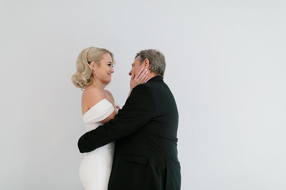 Father & Bride Moment | Rensche Mari Photography