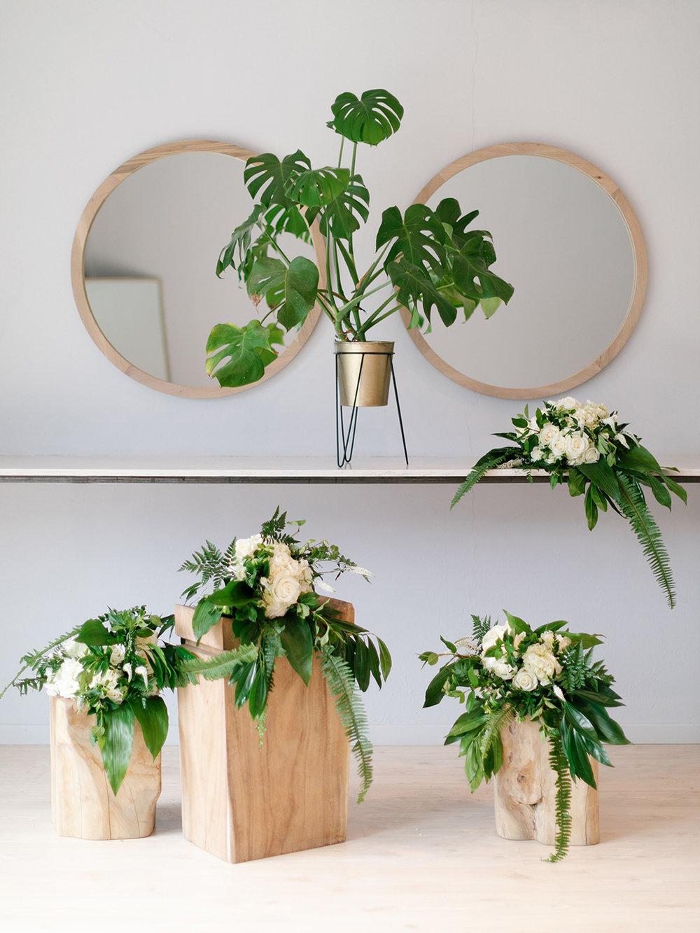 Green & White Wedding Bouquet | Rensche Mari