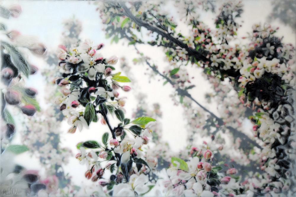 Crabapple Blossoms IV   (20x30)
