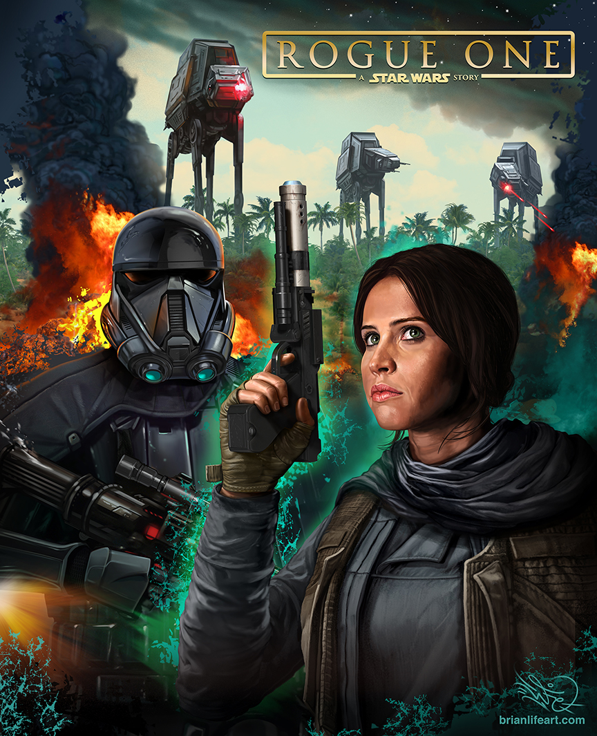 Rogue One poster (fan art, not official)