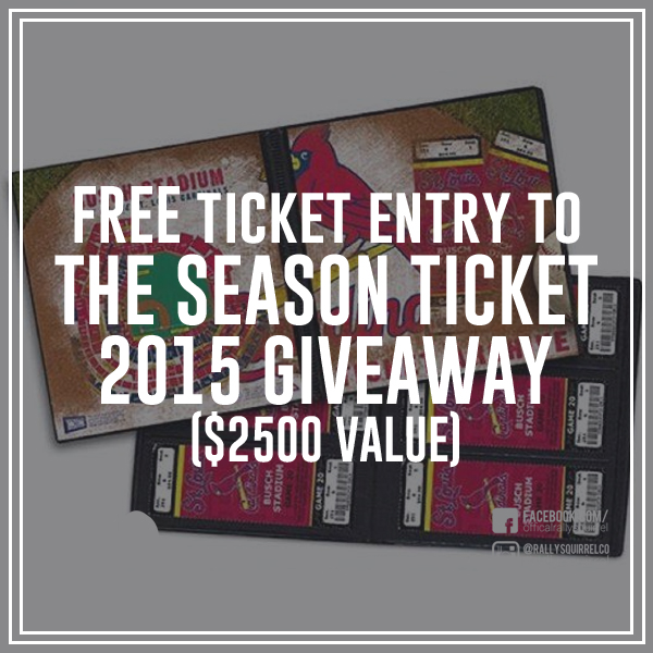 YOU CAN ENTER RIGHT NOW AT  www.rallysquirrel.com/season-tickets