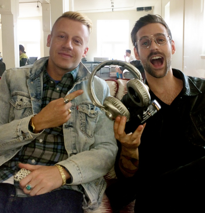 Macklemore & Ryan Lewis with the Bennett Custom Award