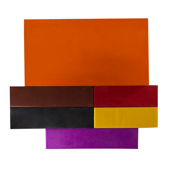Sample of Anodized Colors