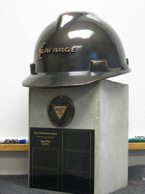 Concrete Base for Custom Award Created for LAFARGE