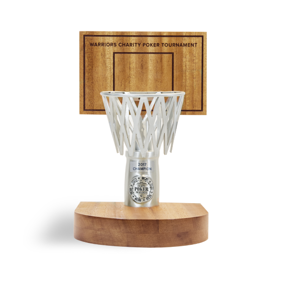 The champion s award was created in the style of a small basketball hoop.  Custom handcrafted hardwood was used for the hoop s base and backboard f17167a48