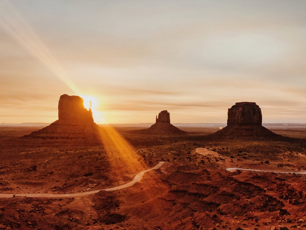The last time I visited Monument Valley I felt it in my bones the beautiful and sacred energy this place holds. That I am lucky that I get to visit and witness this. Coming back was just as powerful. Antrom Kury woke up at sunrise and captured one of the most beautiful images of the trip. I find myself scrolling though photos and always stopping at this one. I love it.