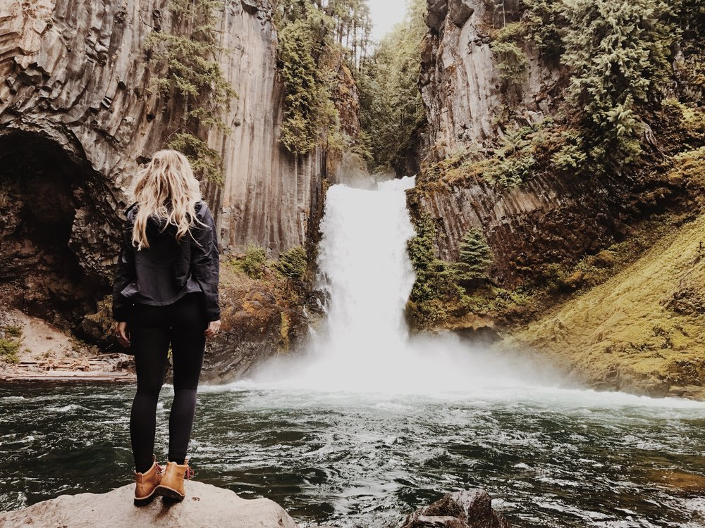 The trip began with hiking to Toketee Falls Oregon. It was quite the dicy climb down to the edge of the water but it was more than worth it. This is one of the most incredible waterfalls I have ever seen in my life! Photo by   Antrom Kury.