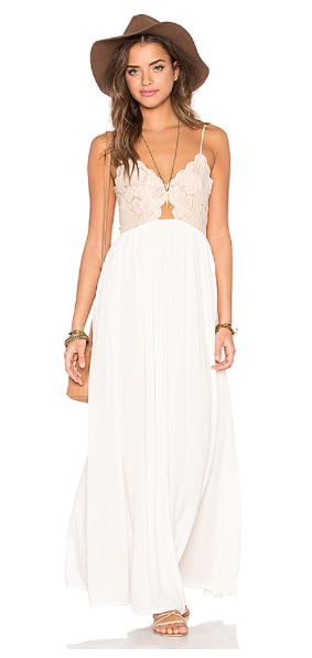 Stephanie: You can't go wrong with a lightweight maxi, and I love wearing all white and adding a pop of color for the 4th of July.
