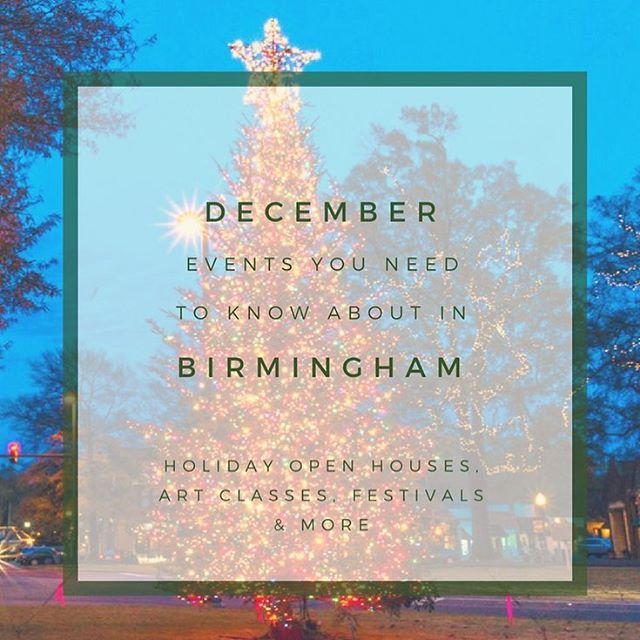 It's a magical time of year and Birmingham is busy with activities to carry you through the holiday season! Head over to the blog to see a calendar of events for this month! 🎄