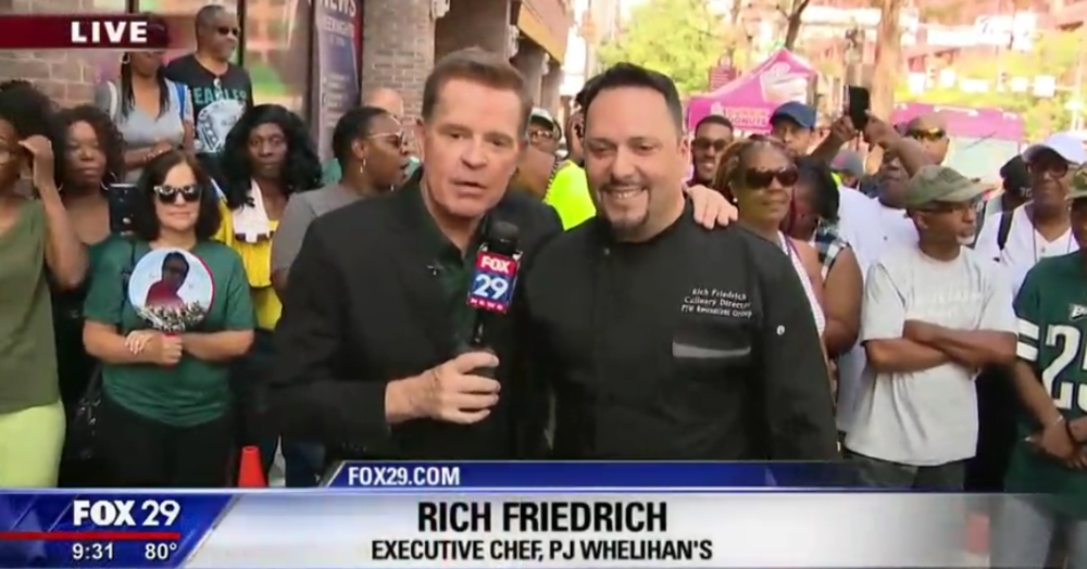 Fox 29's Mike Jerrick catches up with Rich Friedrich, Executive Chef of P.J. Whelihan's to discuss the best tailgate food found at P.J. Whelihan's
