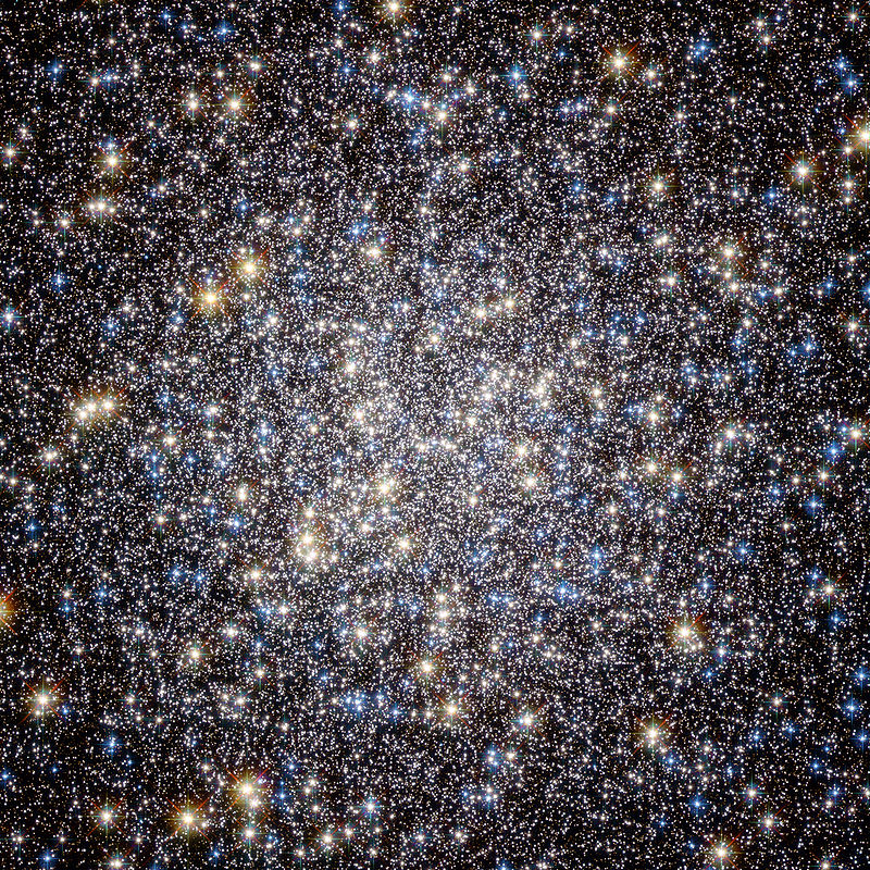 Heart of M13.  ESA/Hubble and NASA via Wikipedia
