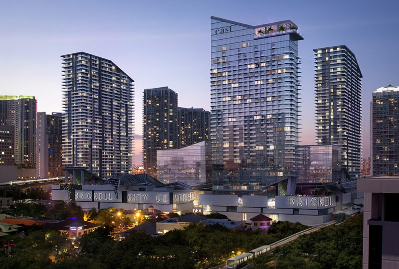 Brickell City Centre Night Rendering