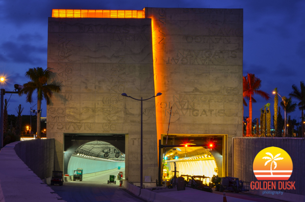 PortMiami Tunnel Night