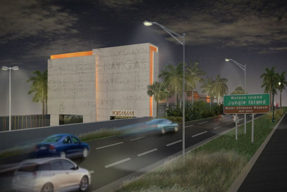 PortMiami Tunnel Night Rendering