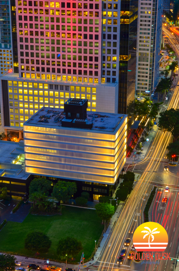 Brickell City Centre Sales Office Lights Up at Night