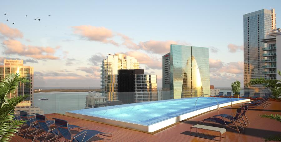 Rooftop Pool Rendering