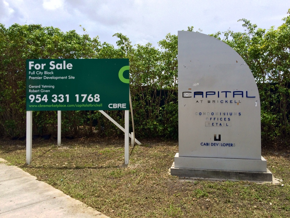For Sale Sign at Capital at Brickell