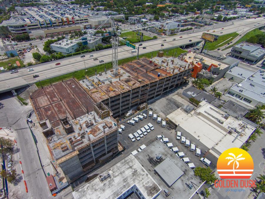 Construction on City Walk Garage