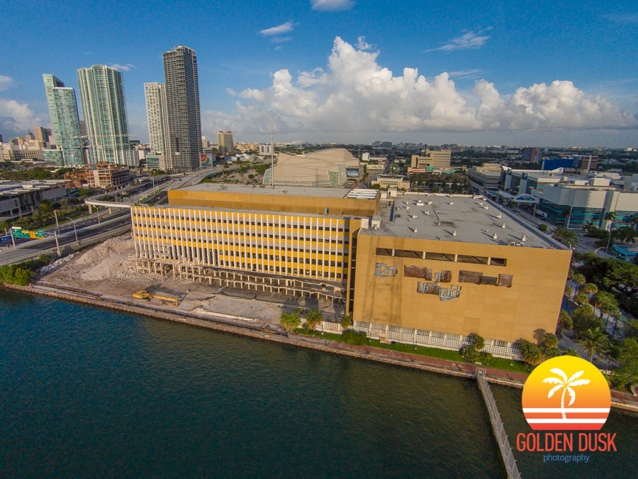 Miami Herald Building Off Of Biscayne Bay