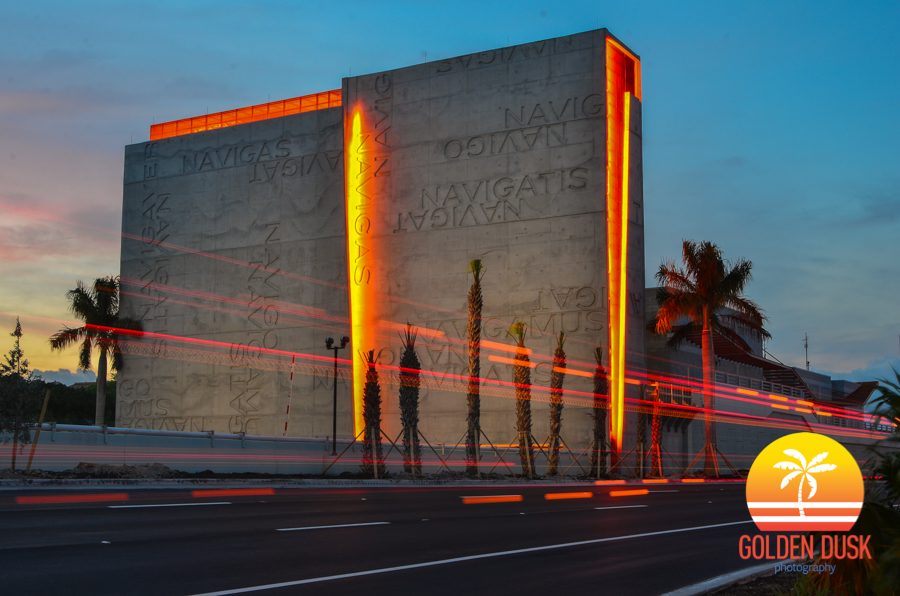 PortMiami Tunnel Entrance at Night