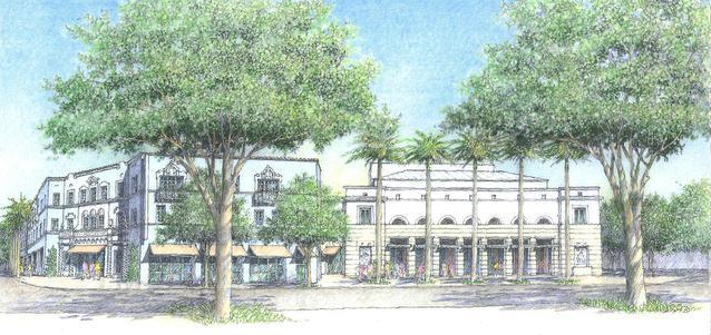 Rendering of Proposed Addition to the Playhouse (via Miami Herald)
