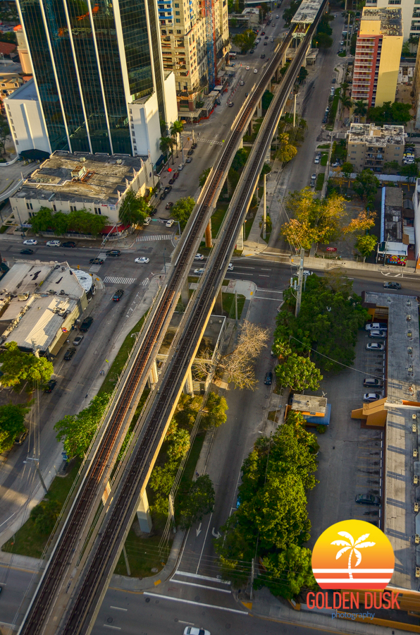 Overview of the Brickell Metrolink Tracks