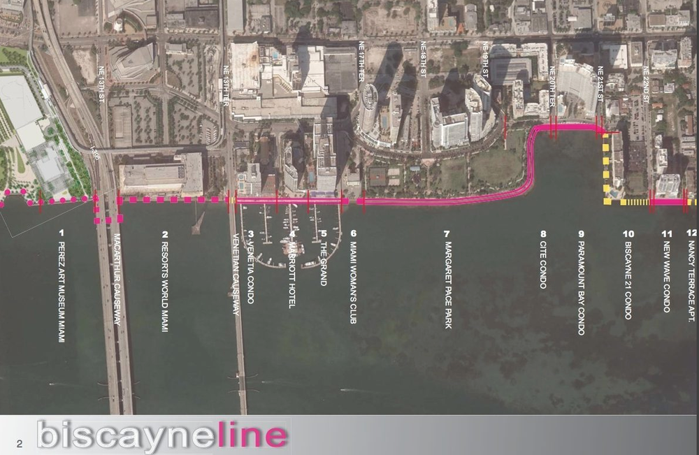 Miami Biscayne Line Bay Walk