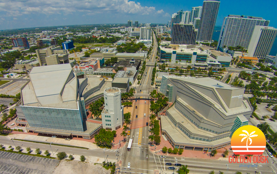 Overhead View of the Arsht Center and the Sears Tower