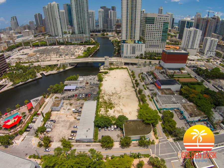 Overview of Miami Riverwalk Site In Brickell
