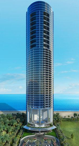 Porsche Design Tower Construction Photos Golden Dusk Photography