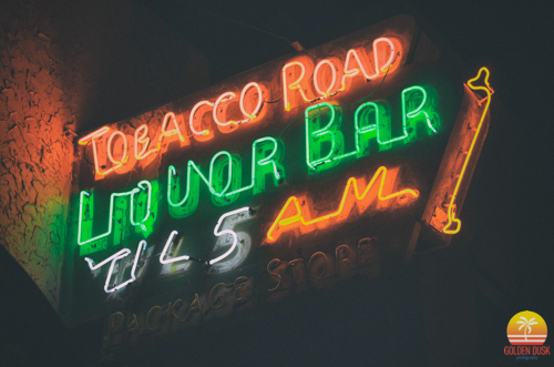 The Famous Neon Tobacco Road Sign