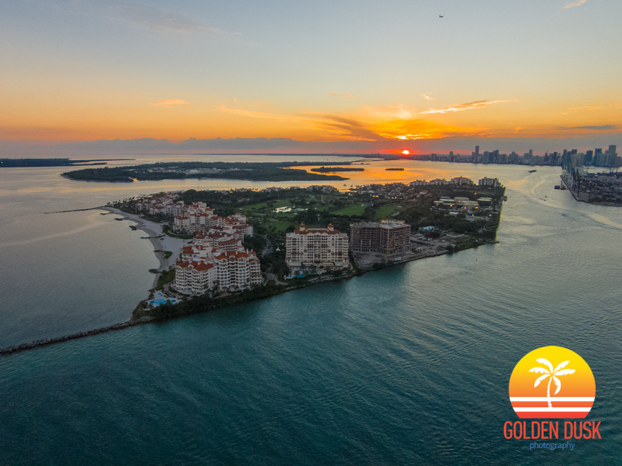 Sunset Over Fisher Island