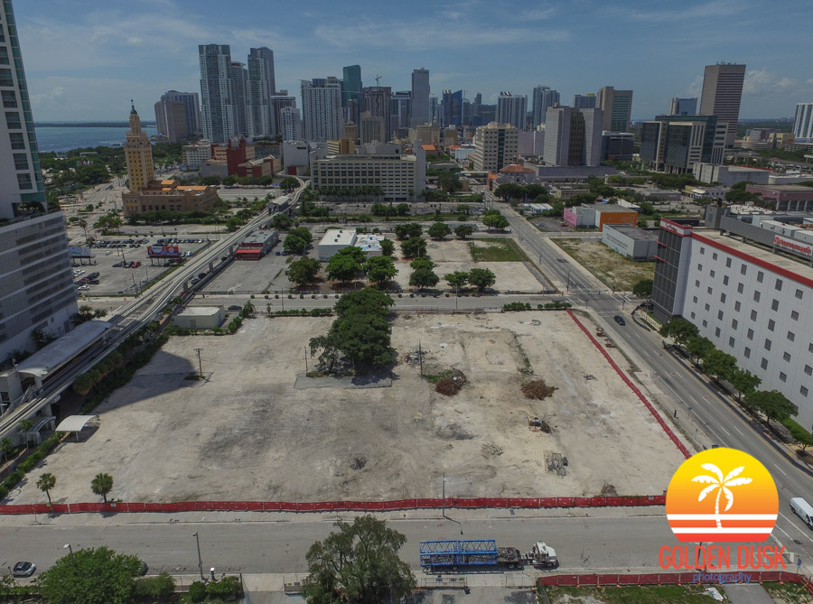 Miami Worldcenter Site Towards Downtown