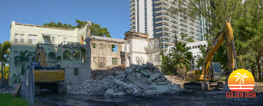 Demolition in Edgewater