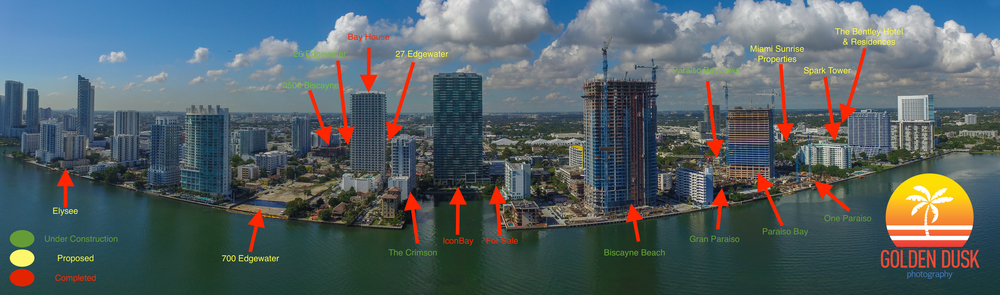 Completed, Proposed and Under Construction Projects in Edgewater