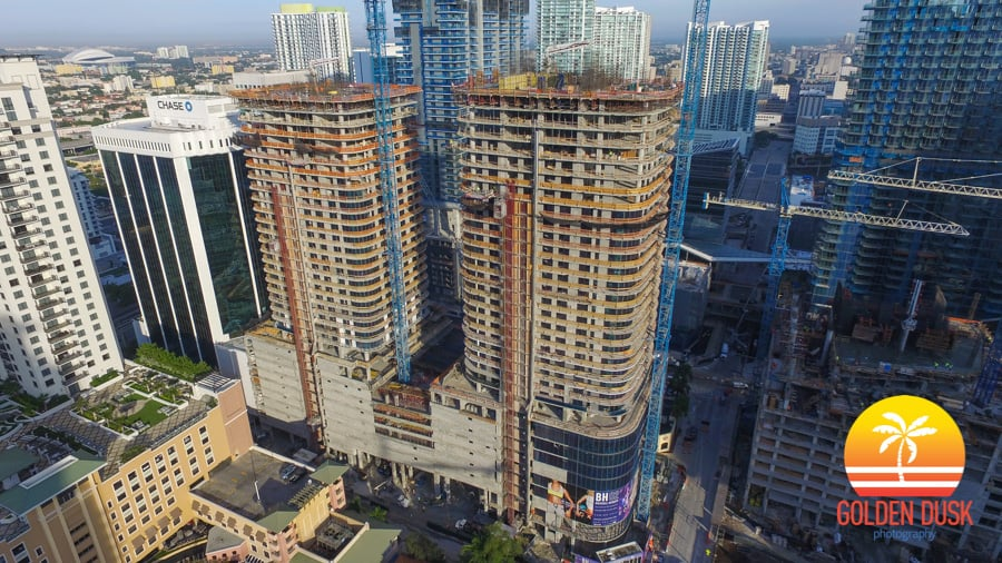 The Two Towers of Brickell Heights