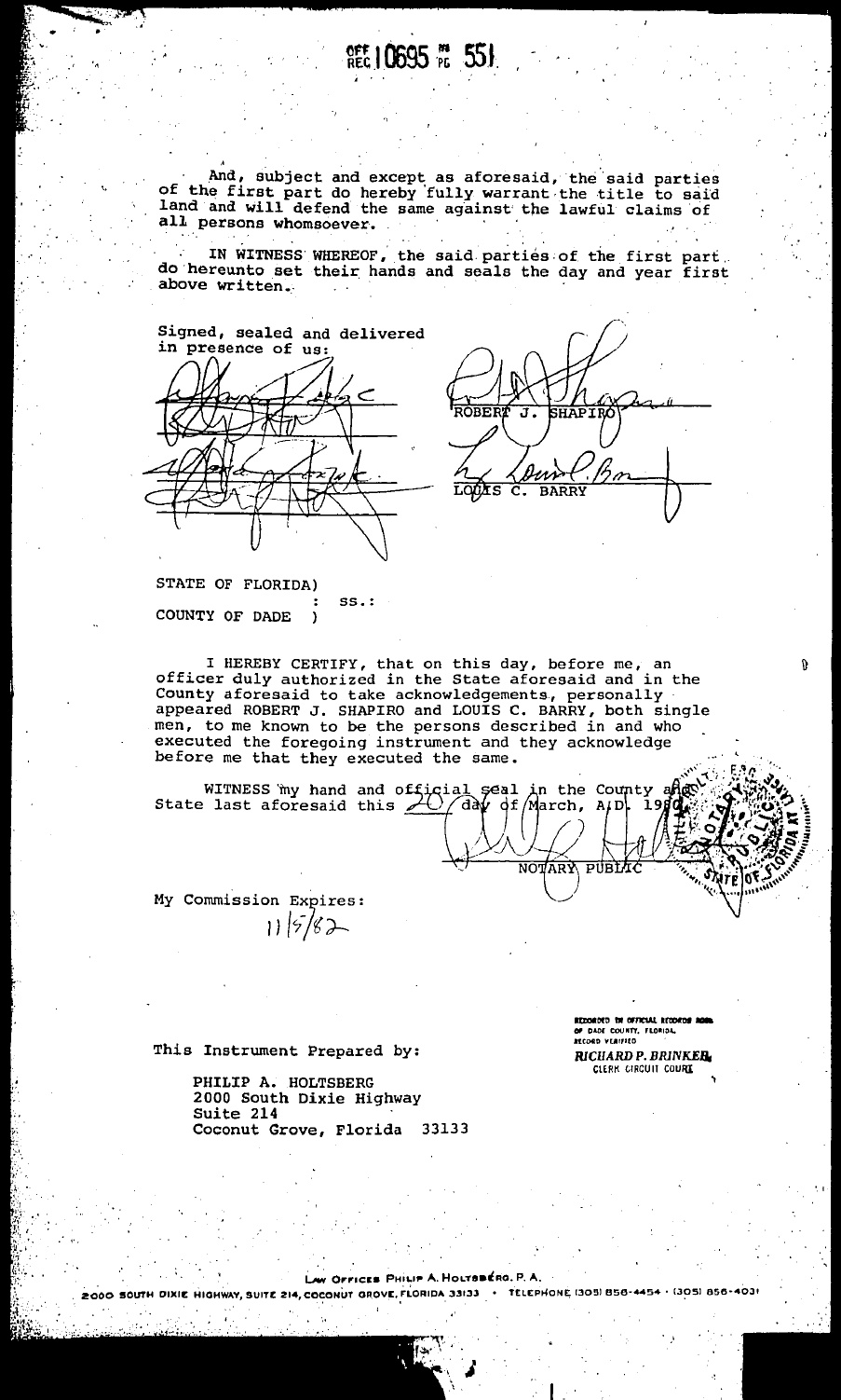 Copy of Property Deed