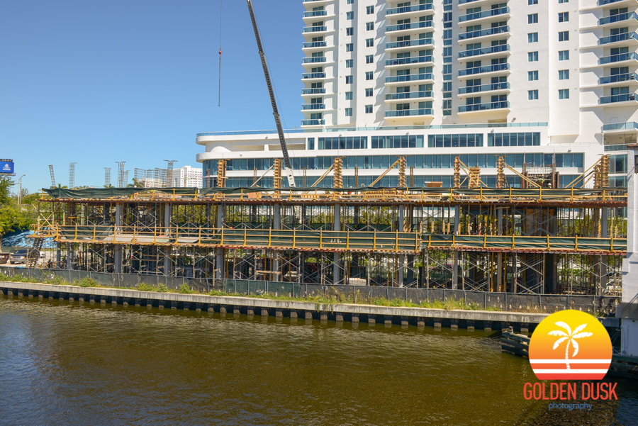 Construction on the Miami River